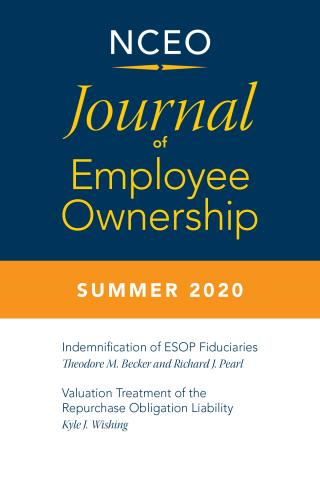 Product image for: Journal of Employee Ownership, Summer 2020: ESOP Fiduciary Indemnification and More