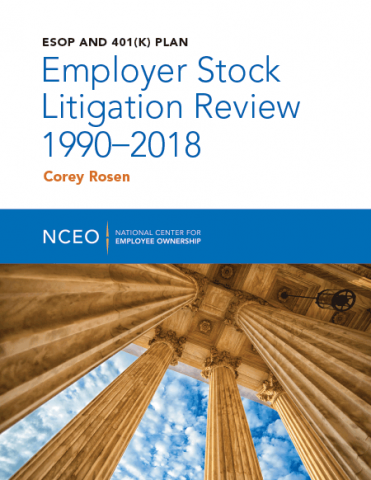 Product image for: ESOP and 401(k) Plan Employer Stock Litigation Review 1990-2018