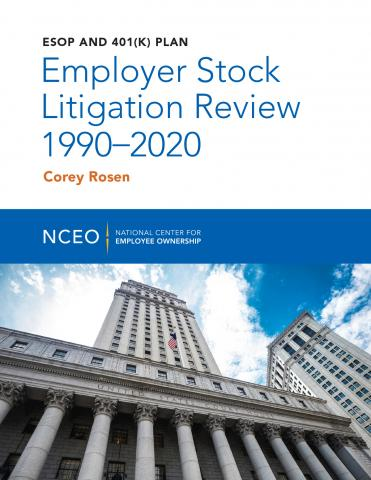 Product image for: ESOP and 401(k) Plan Employer Stock Litigation Review 1990-2020