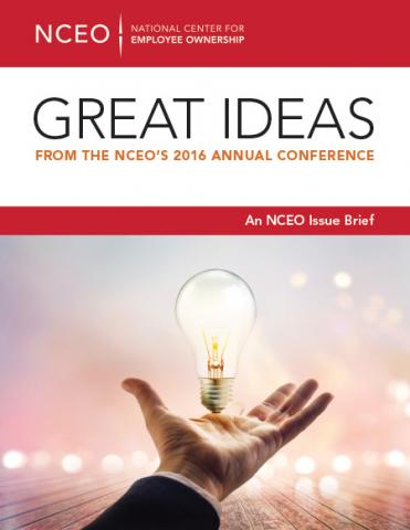 Product image for: Great Ideas from the NCEO's 2016 Annual Conference