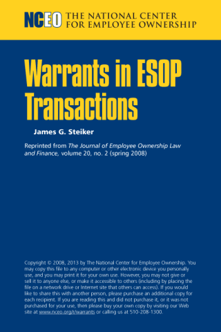 Product image for: Warrants in ESOP Transactions